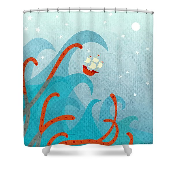 A Bad Day For Sailors Shower Curtain