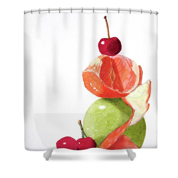 A Balanced Meal Shower Curtain