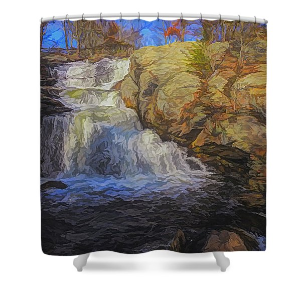 A Beautiful Connecticut Waterfall. Shower Curtain