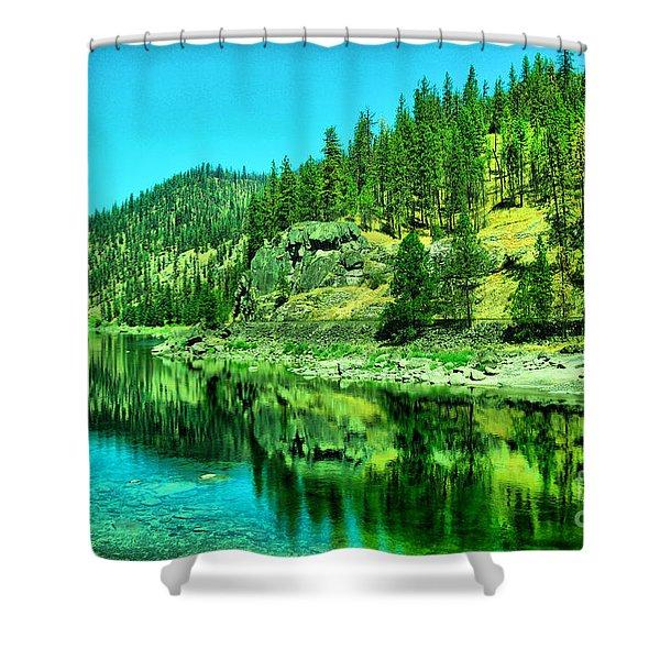 A Beautiful Stillness Shower Curtain