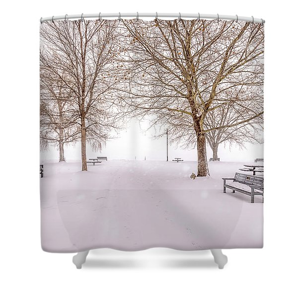 A Beautiful Winter's Morning  Shower Curtain