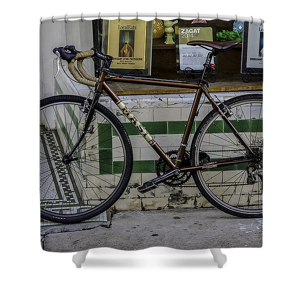 A Bicycle In The French Quarter, New Orleans, Louisiana Shower Curtain