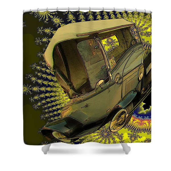 Shower Curtain featuring the digital art A Big Splash by Tristan Armstrong