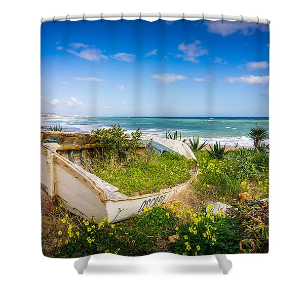 A Boat Called Oscar. Shower Curtain