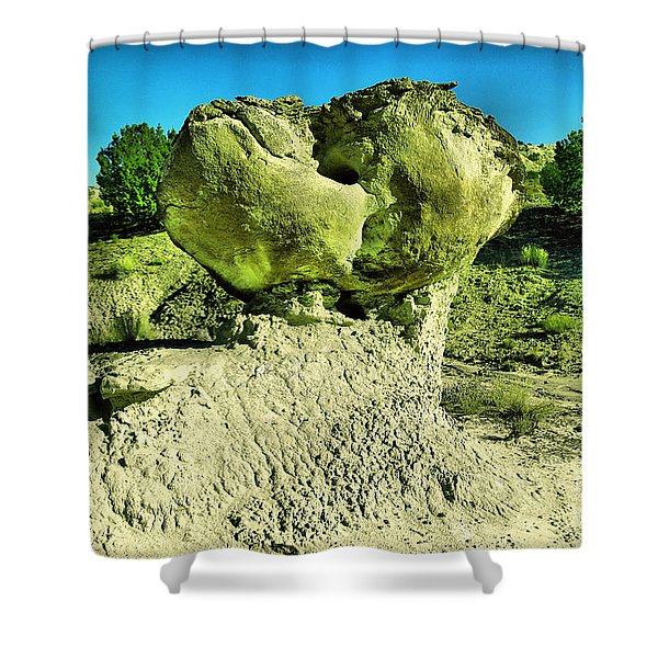 A Boulder On Display Shower Curtain