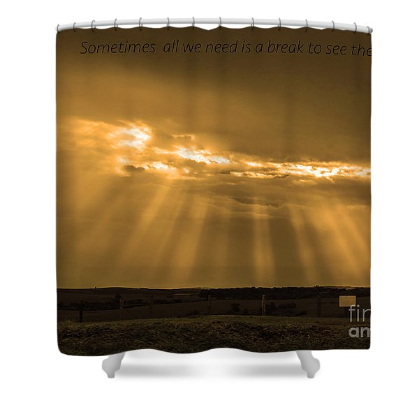 A Break Shower Curtain