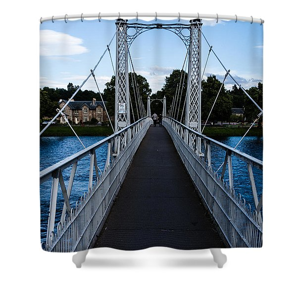 A Bridge For Walking Shower Curtain