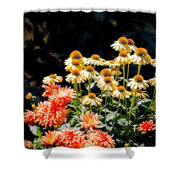 A Bright Flower Patch Shower Curtain