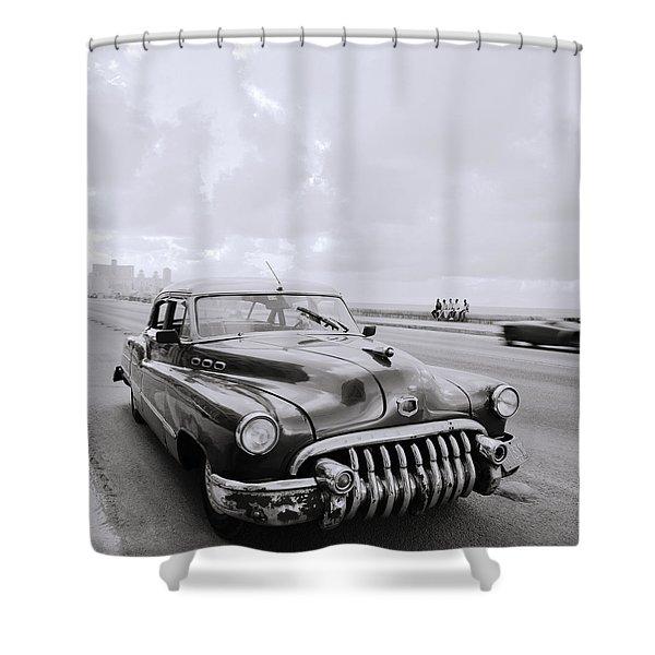 A Buick Car Shower Curtain