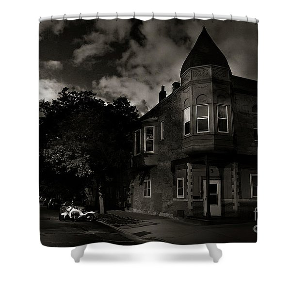 A Castle In The Hood Shower Curtain