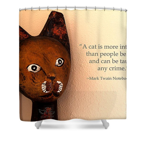 A Cat Is More Intelligent Shower Curtain
