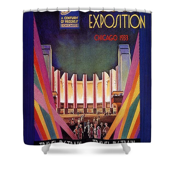 A Century Of Progress - Vintage Exposition Poster - Chicago Shower Curtain
