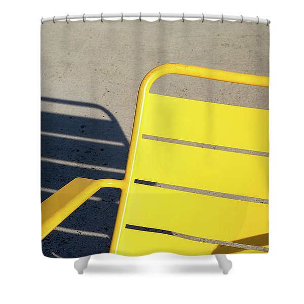 A Chair And Its Shadow Shower Curtain