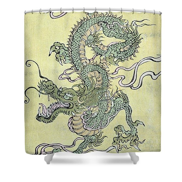 A Chinese Dragon Shower Curtain