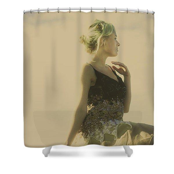 A Classical Beauty Portrait Shower Curtain