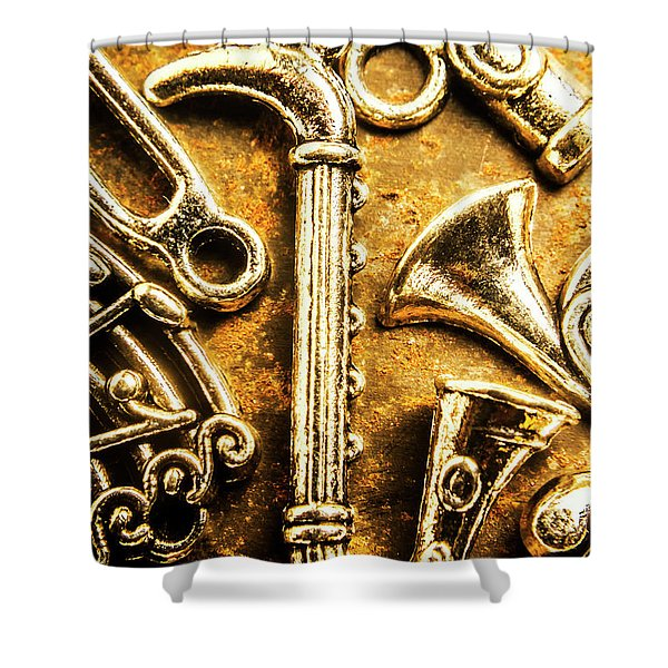 A Classical Composition Shower Curtain