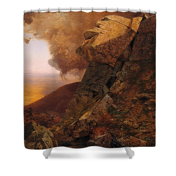 A Cliff In The Catskills Shower Curtain