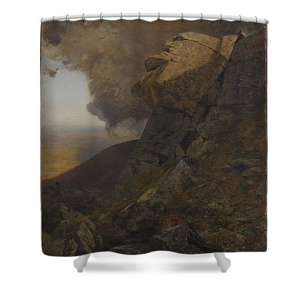 A Cliff In The Katskills Shower Curtain