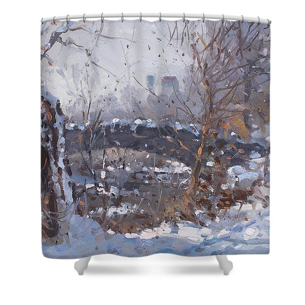 A Cold Sunny Day At Three Sisters Islands Shower Curtain