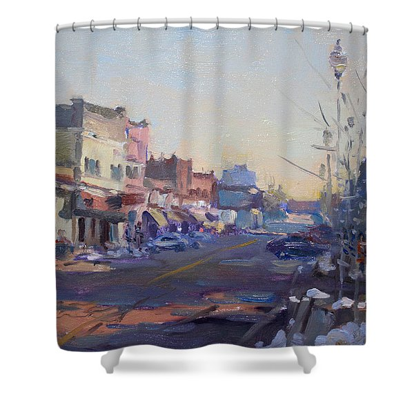 A Cold Sunny Day At Webster St Shower Curtain