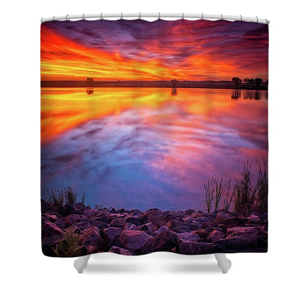 A Colorado Birthday Sunrise Shower Curtain