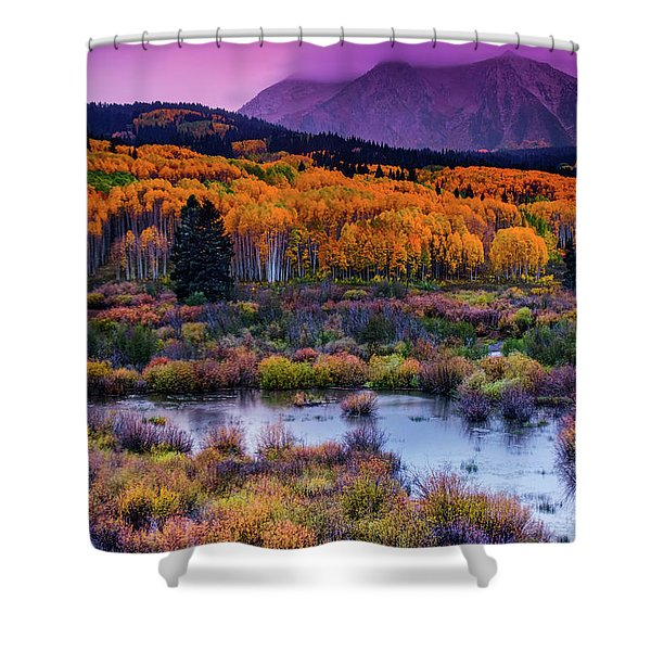 A Colorado Fall Along Kebler Pass Shower Curtain