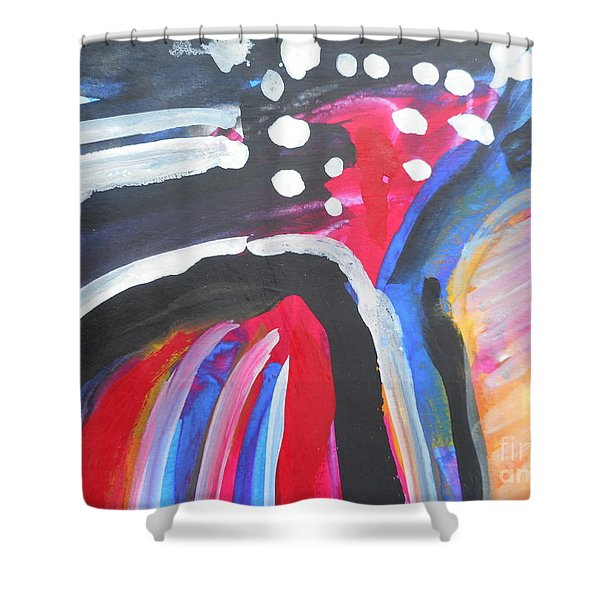 A Colorful Path Shower Curtain
