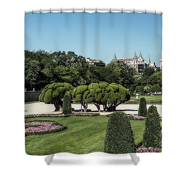 Colorfull El Retiro Park Shower Curtain