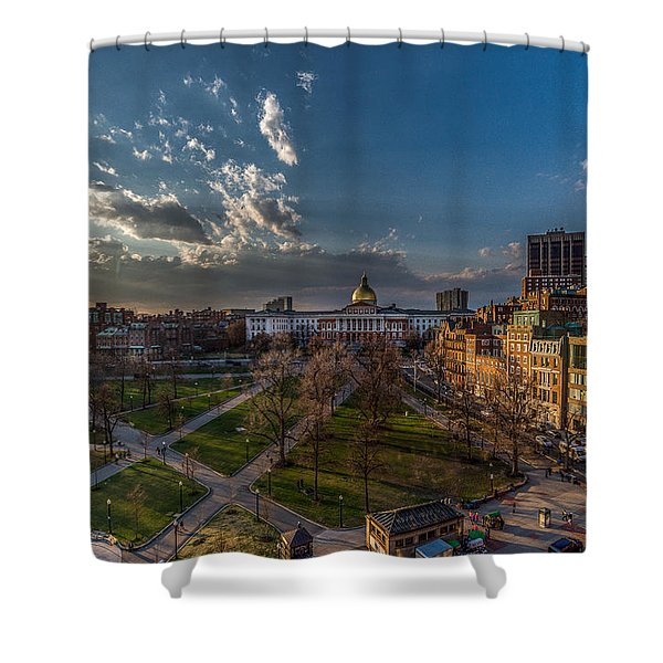 A Common Sunset Shower Curtain