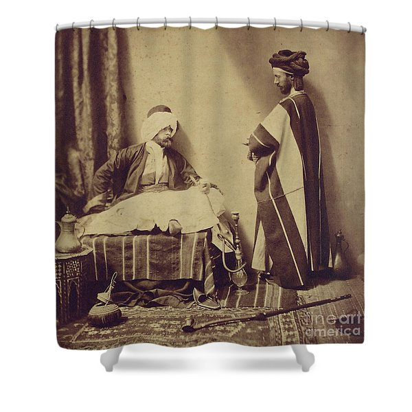 A Conversation While Smoking, 1858 Shower Curtain
