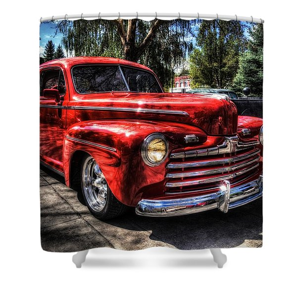 A Cool 46 Ford Coupe Shower Curtain
