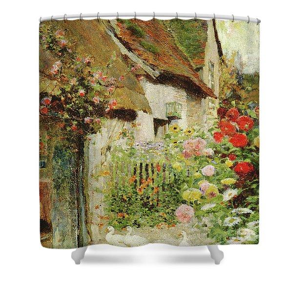 A Cottage Door Shower Curtain