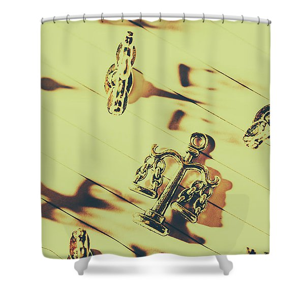 A Courthouse Judgement Shower Curtain