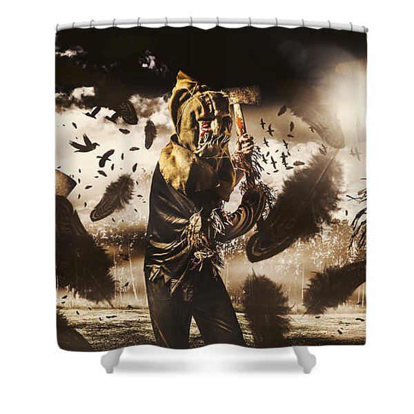 A Crow Left Of The Murder Shower Curtain