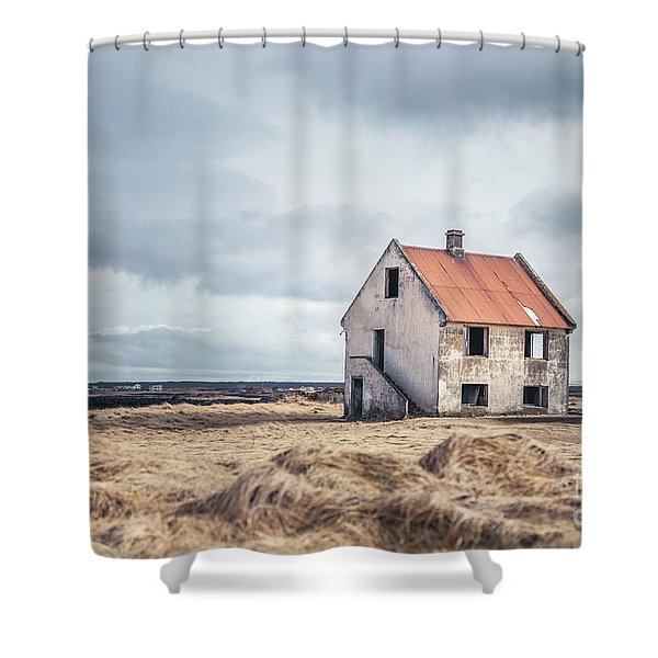 A Crumpled Story Shower Curtain