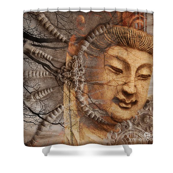 Shower Curtain featuring the digital art A Cry Is Heard by Christopher Beikmann