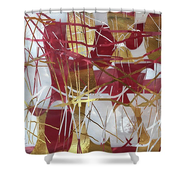 A Dance Of Rubies And Old Gold Shower Curtain