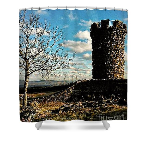 A Day At  Craigs  Castle   Shower Curtain