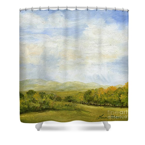 A Day In Autumn Shower Curtain