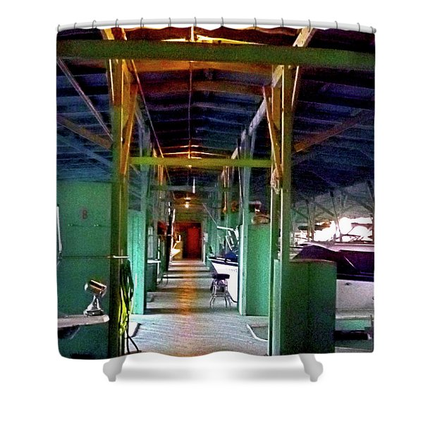 A Delta Boat Shed Shower Curtain