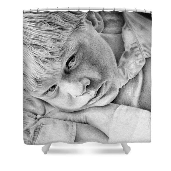 A Doleful Child Shower Curtain
