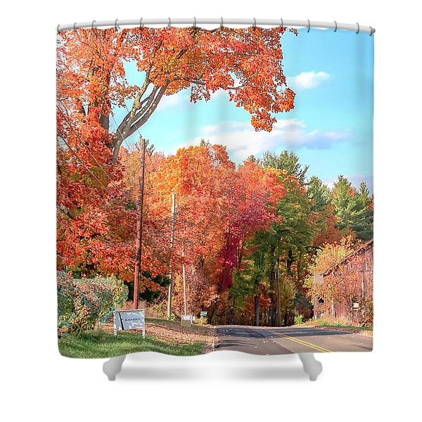 Shower Curtain featuring the photograph A Drive In The Country by Sven Kielhorn