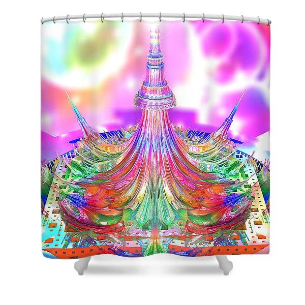 A Drop Of 3d Mandelbrot Shower Curtain