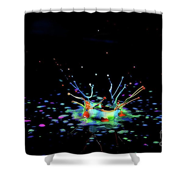 A Drop That Is A Crown Shower Curtain
