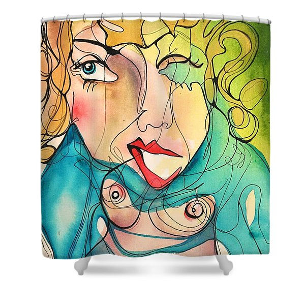 A Drowning Demise Shower Curtain