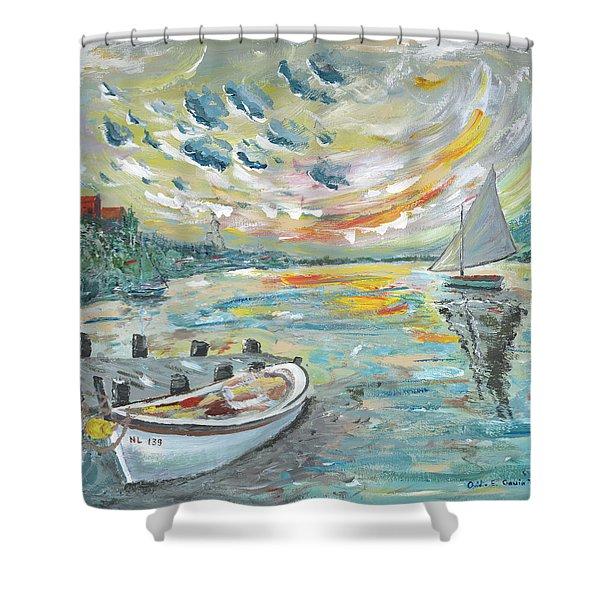 A Dutch Sunset Shower Curtain