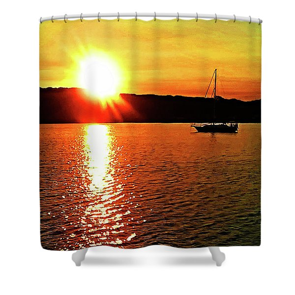 A Early Springtime Visit To Mystic Village In M Shower Curtain