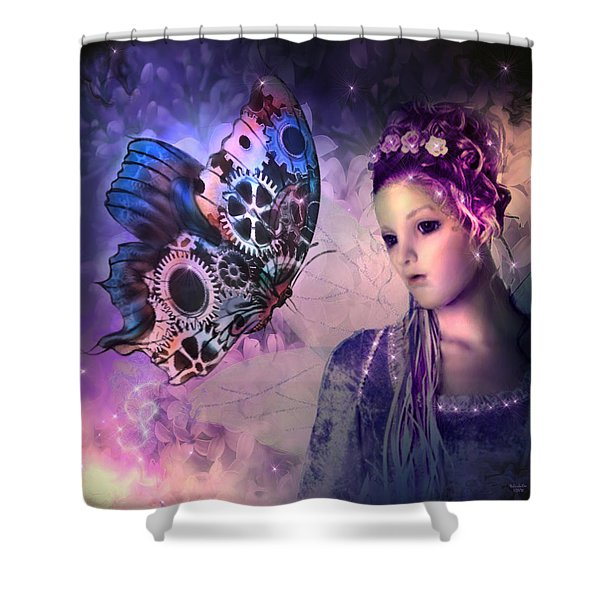 A Fairy Butterfly Kiss Shower Curtain
