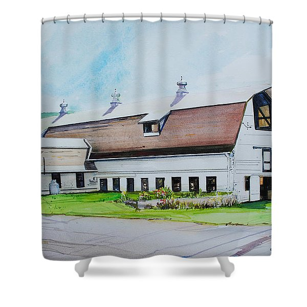 A Farmstand  In The Berkshires Shower Curtain