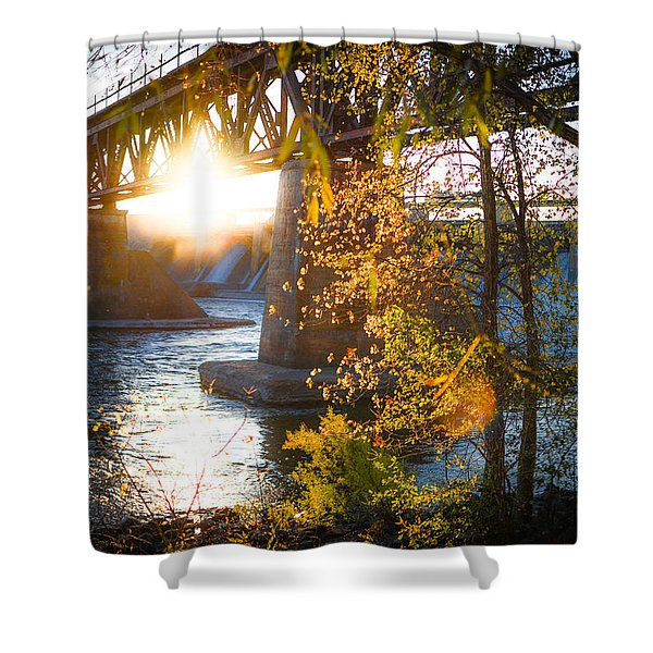 Blanchard Dam - A Favorite Place Shower Curtain